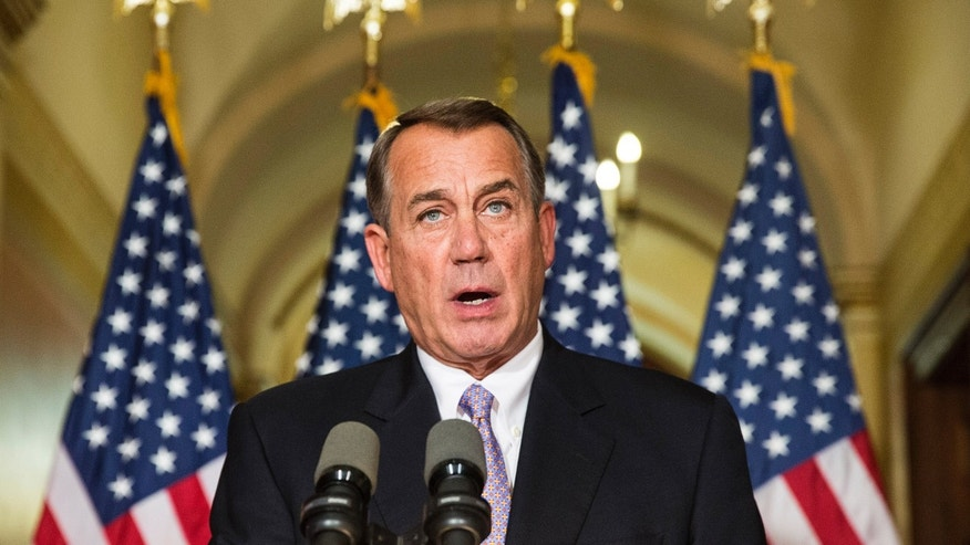 Nov. 21, 2014: peaker of the House John Boehner (R-OH) denounces the executive order on immigratio