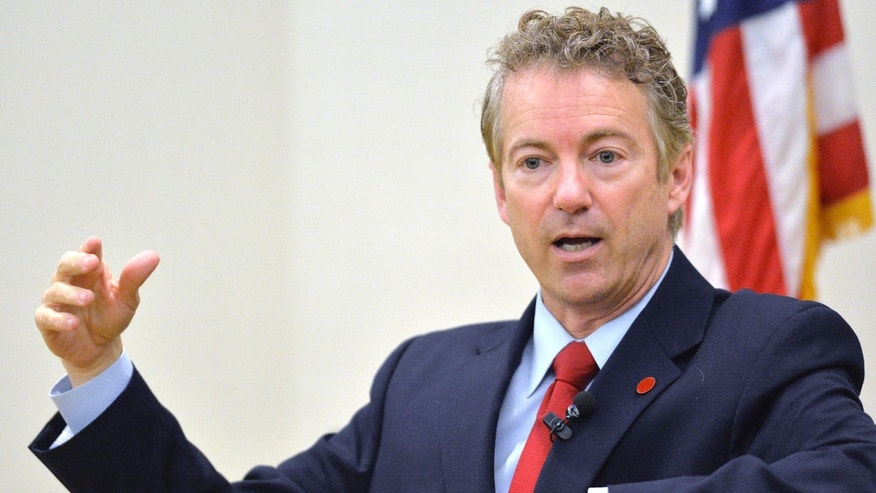 Nov. 21, 2014: Kentucky Senator Rand Paul speaks to the Chase Federalist Society at Northern Kentucky University