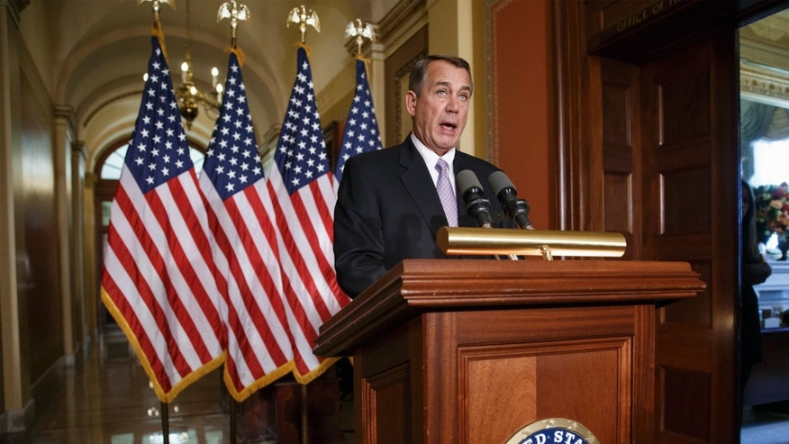 Nov. 21, 2014: House Speaker John Boehner of Ohio responds to President Barack Obama's intention to spare millions of illegal immigrants from being deported, a use of executive powers that is setting up a fight with Republicans in Congress over the limits of presidential powers