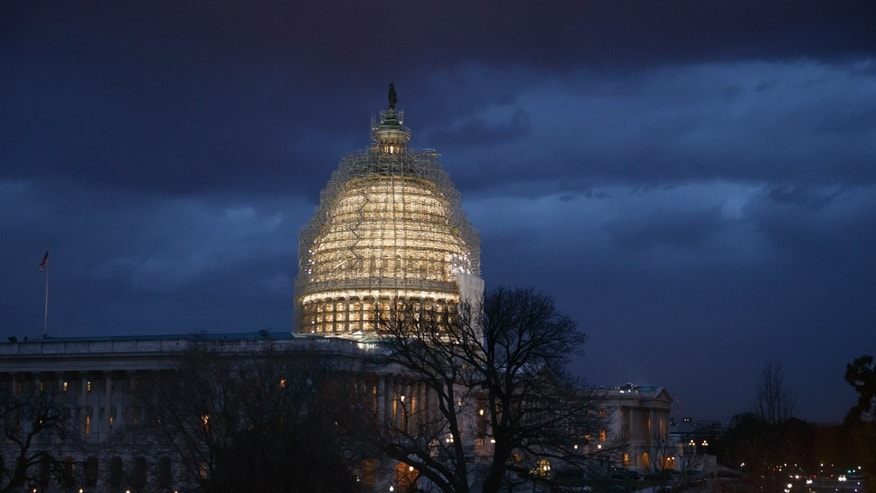 Dec. 1, 2014: The Capitol is seen at dusk in Washington.
