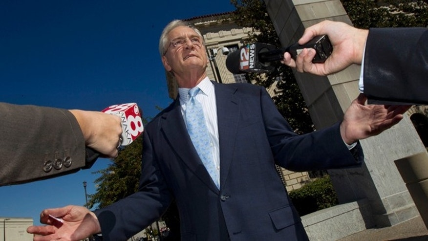 Nov. 2, 2011: In this file photo former Alabama Gov. Don Siegelman talks with reporters outside the Federal Courthouse in Montgomery, Ala.