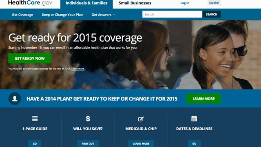 FILE - A screen shot shows the home page of HealthCare,gov. President Barack Obama's health insurance expansion faces the biggest test of its second year on Monday, the deadline to sign up for coverage that starts Jan. 1. (AP Photo, File)