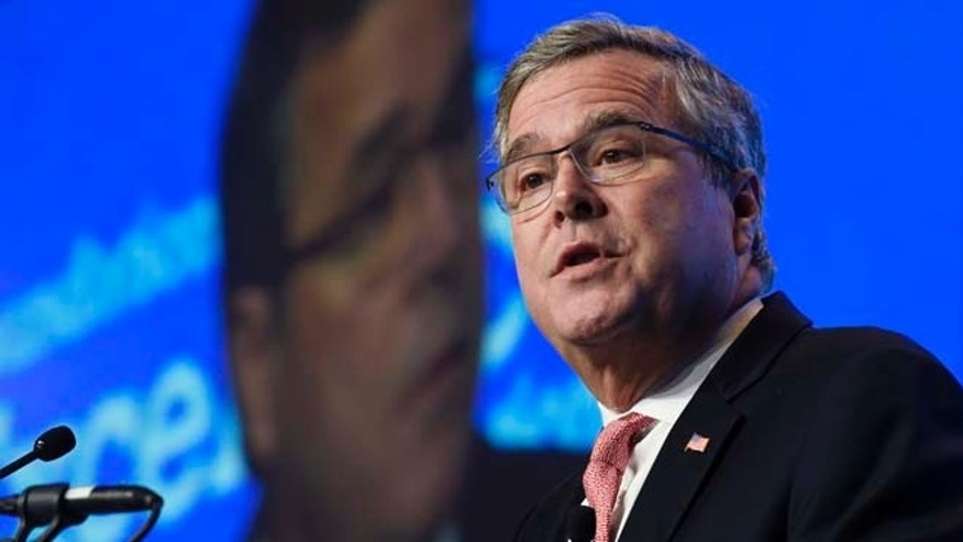 In this Nov. 20, 2014, file photo, former Florida Gov. Jeb Bush gives the keynote address at the National Summit on Education Reform in Washington.