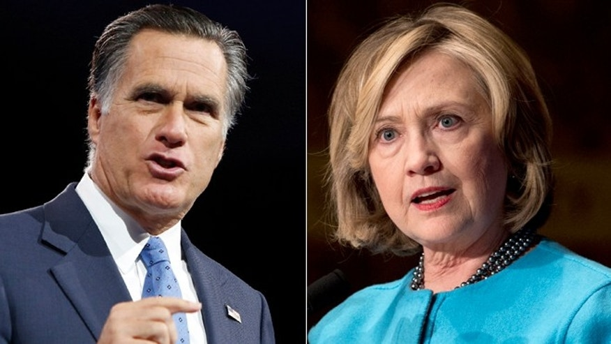 This composite image shows Mitt Romney, left, and Hillary Clinton, right. (Reuters/AP)