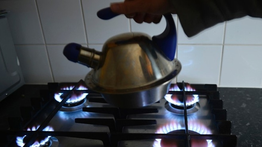 A gas cooker is seen in Boroughbridge, northern England November 13, 2012. British energy regulators on Monday said they are investigating claims made by a whistleblower that UK traders have manipulated wholesale prices on Europe's biggest gas market.  REUTERS/Nigel Roddis (BRITAIN - Tags: ENERGY BUSINESS) - RTR3ACOI