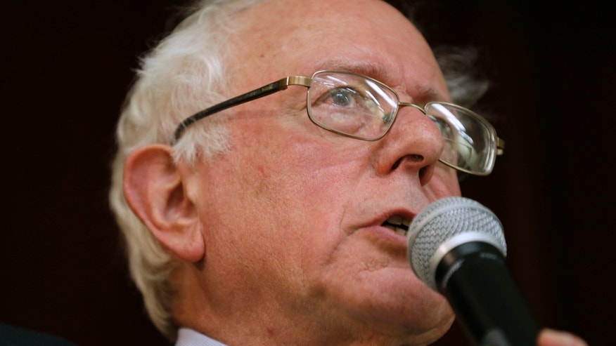 Dec. 16, 2014: Sen. Bernie Sanders, I-Vt., speaks during a town hall meeting in Ames, Iowa.