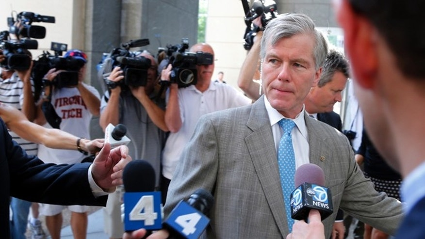 In this Aug. 28, 2014 file photo former Virginia Gov. Bob McDonnell arrives at federal court in Richmond, Va.