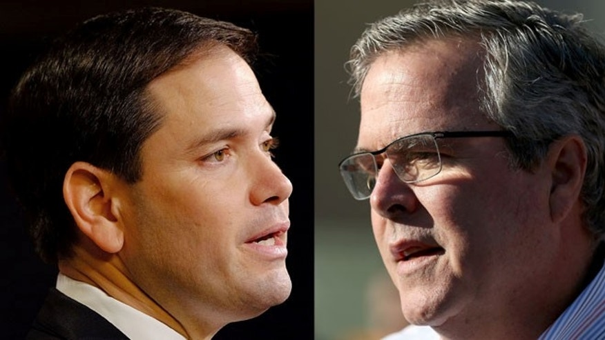 Marco Rubio (left) and Jeb Bush. (Photos: Getty Images)