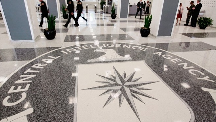 File photo of the lobby of the CIA Headquarters Building in McLean, Va.