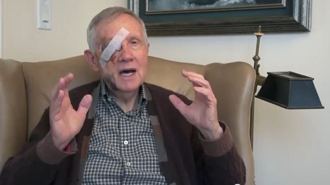 Reid might lose eyesight after exercise injury but touts workout routine as proof he's fit to govern