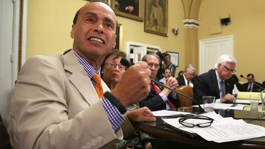 WASHINGTON, DC - AUGUST 01:  (L-R) U.S. Rep. Luis Gutierrez (D-IL) speaks as Rep. Nita Lowey (R-NY), and Rep. Hal Rogers (R-KY) and Rep. Bob Goodlatte (R-VA) listen duirng a House Rules Committee meeting August 1, 2014 on Capitol Hill in Washington, DC. The House came back on Friday, a day after its scheduled summer recess, trying to finish up a border supplemental spending bill that was pulled from the floor the day before because of a shortage of votes.  (Photo by Alex Wong/Getty Images)