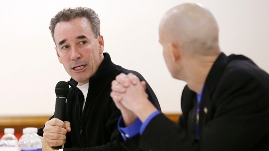 Jan. 11, 2015: Candidates Joe Morrissey and Matt Walton appear during the Richmond Crusade for Voters, Inc. 74th District forum at Hobson Lodge in Richmond, Va.