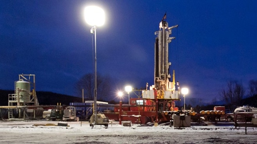 This Jan. 17, 2013 file photo shows a fracking site in New Milford, Pa.