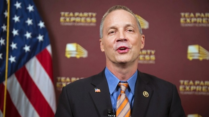 Rep. Curt Clawson, R-Fla, at the National Press Club in Washington, Tuesday, Jan. 20, 2015.