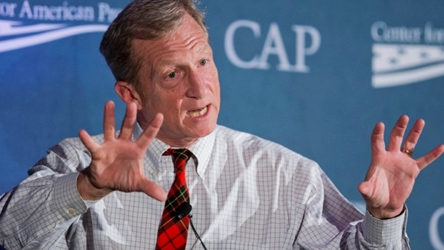 Nov. 19, 2014: Environmentalist Tom Steyer speaks to the Center for American Progresss Second Annual Policy Conference in Washington. (AP)