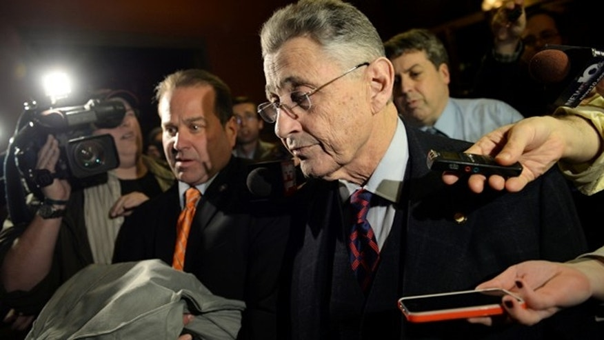 Jan. 27, 2015: Assembly Speaker Sheldon Silver leaves his office at the Capitol building in Albany, N.Y. Silver, the longtime leader of the New York state Assembly, agreed to give up the position he has held for 21 years in the wake of federal corruption charges, a top lawmaker announced Tuesday. (AP Photo/The Daily Gazette, Patrick Dodson)
