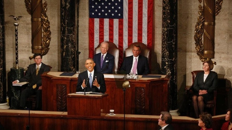 January 20, 2015: U.S. President Barack Obama delivers his State of the Union address to a joint session of the U.S. Congress on Capitol Hill in Washington.