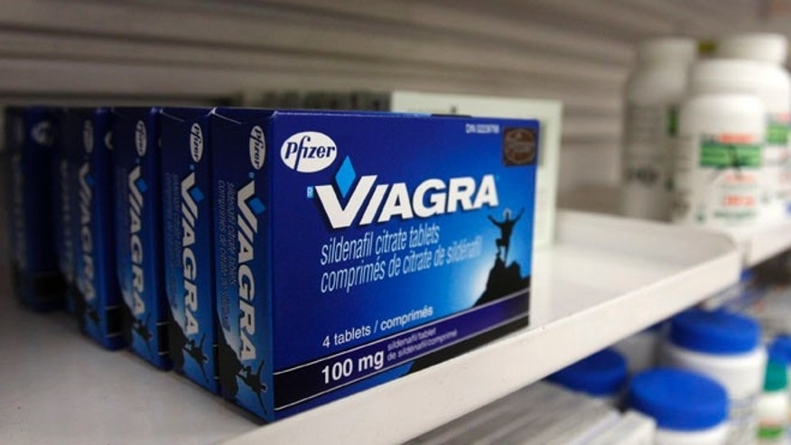FILE: UNDATED: A box of Viagra in a pharmacy.