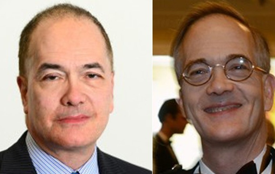 Brothers Allan Block, (l.), and John Block, (r.), own a media empire that includes the Toledo Blade, Pittsburgh Post-Gazette and several television stations.