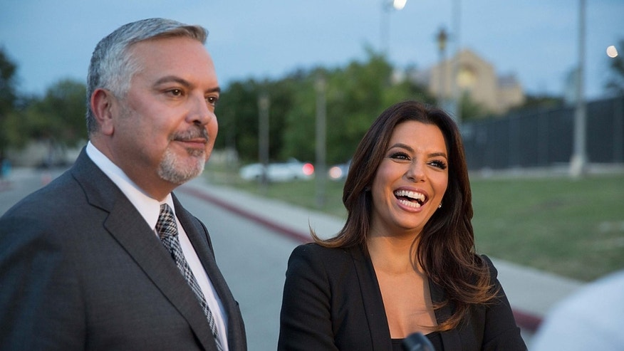 Henry R. Munoz, III, Latino activist and advocate and Eva Longoria, actor, director, producer and activist are looking to help fill the void for Latino political donations with the Latino Victory Fund.  (Photo by Rick Kern/Getty Images for Latino Victory Project)