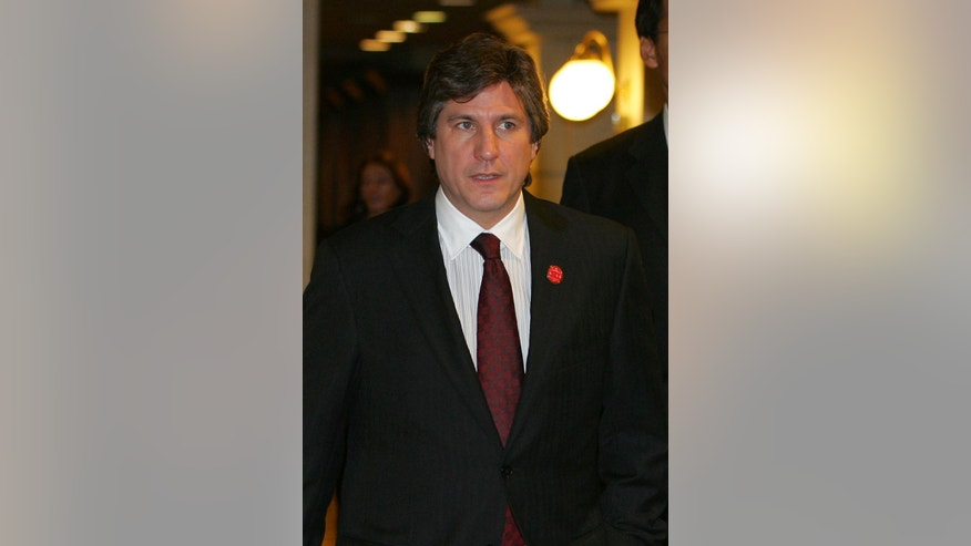 Amado Boudou on a November 6, 2009 file photo.