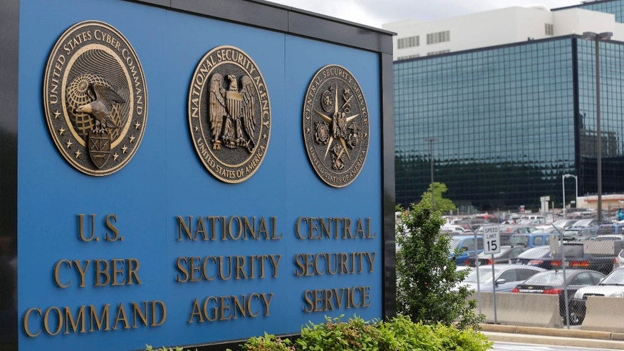 June 6, 2013: A sign stands outside the National Security Administration (NSA) campus in Fort Meade, Md.