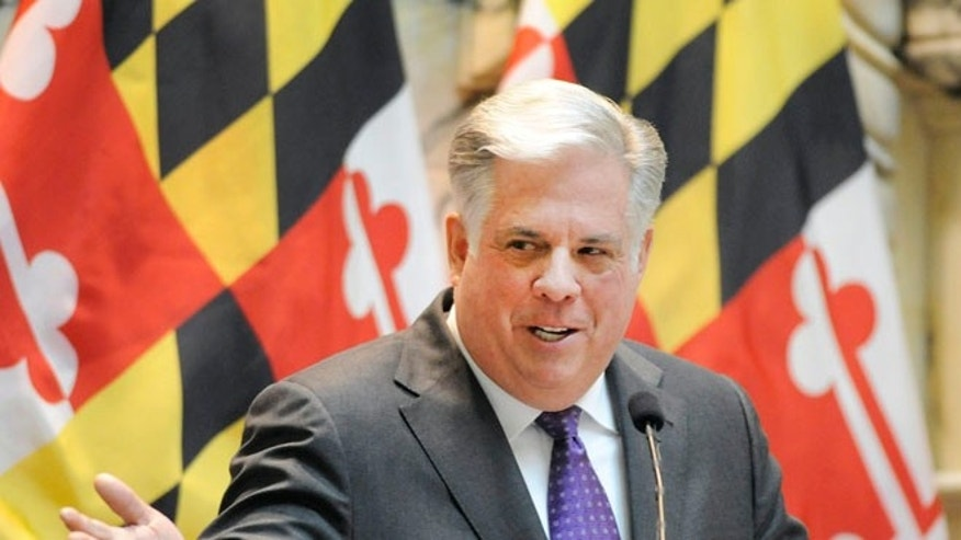 FILE: Feb. 4, 2015: Maryland Gov. Larry Hogan in Annapolis, Md.