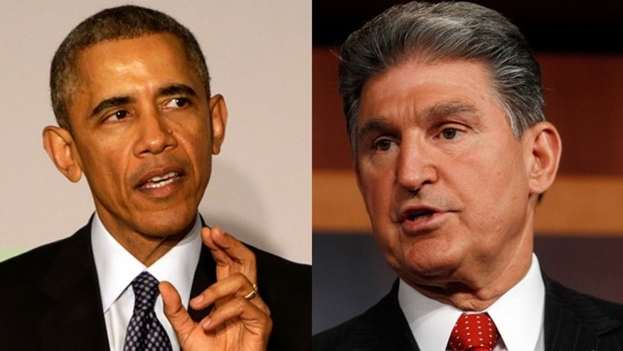 President Obama (left) and West Virginia Sen. Joe Manchin (right).