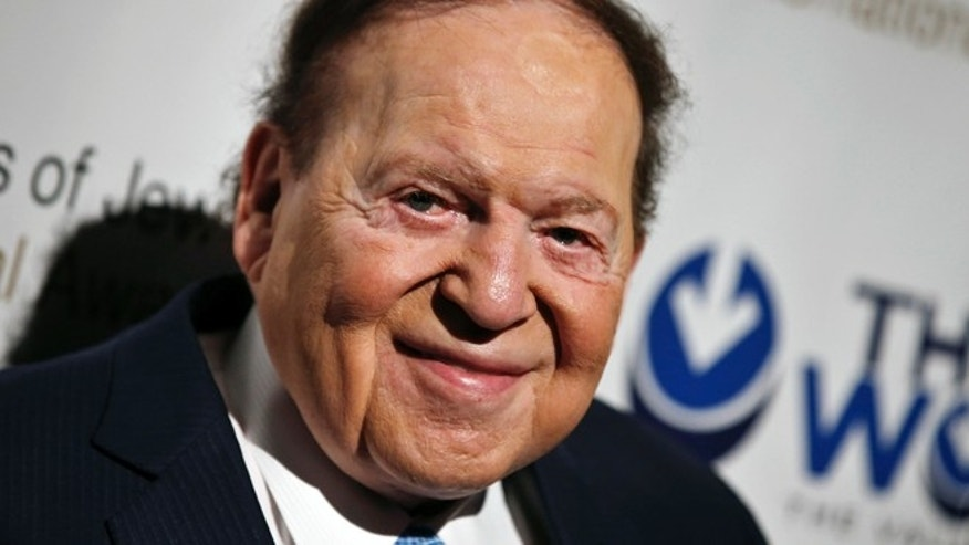May 18, 2014: Las Vegas gaming tycoon Sheldon Adelson attends the second Annual Champions of Jewish Values International Awards Gala in New York. (Reuters)