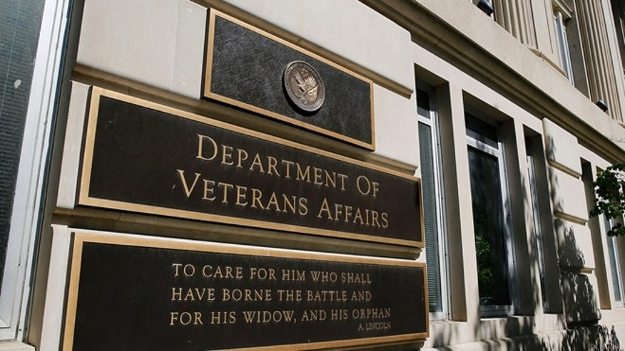 May 23, 2014: The sign of the Department of Veteran Affairs is seen in front of the headquarters building in Washington. (Reuters)