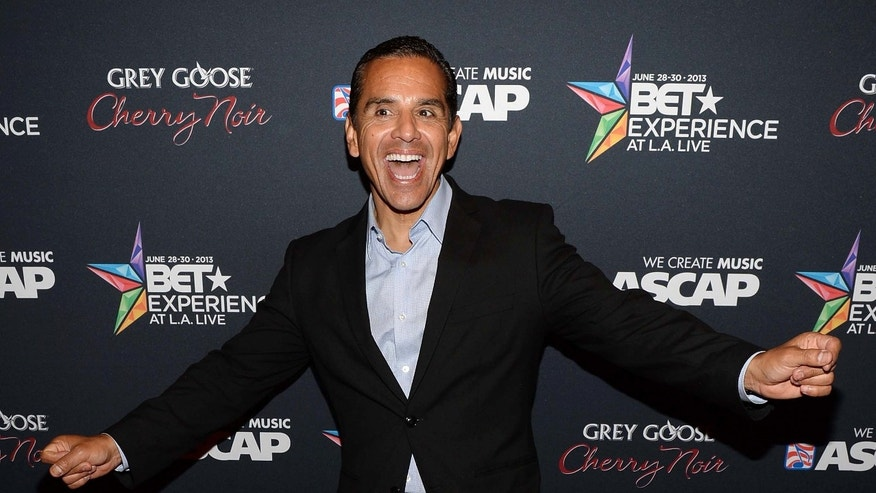 LOS ANGELES, CA - JUNE 28: Los Angeles mayor Antonio Villaraigosa arrives at the Grey Goose Cherry Noir Flavored Vodka VIP after party during the 2013 BET Experience at The Conga Room at L.A. Live on June 28, 2013 in Los Angeles, California.  (Photo by Jason Kempin/Getty Images for BET)