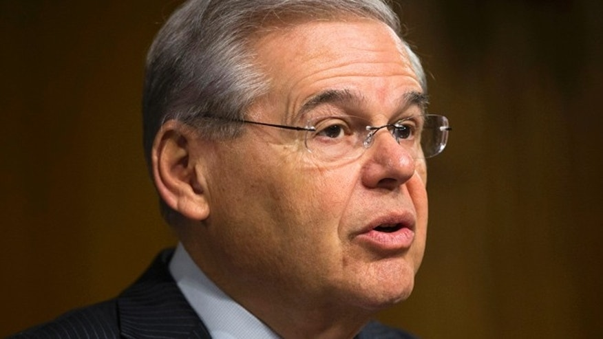 March 11, 2015: Sen. Robert Menendez, D-N.J., ranking member on the Senate Foreign Relation Committee, gives opening remarks on Capitol Hill in Washington.