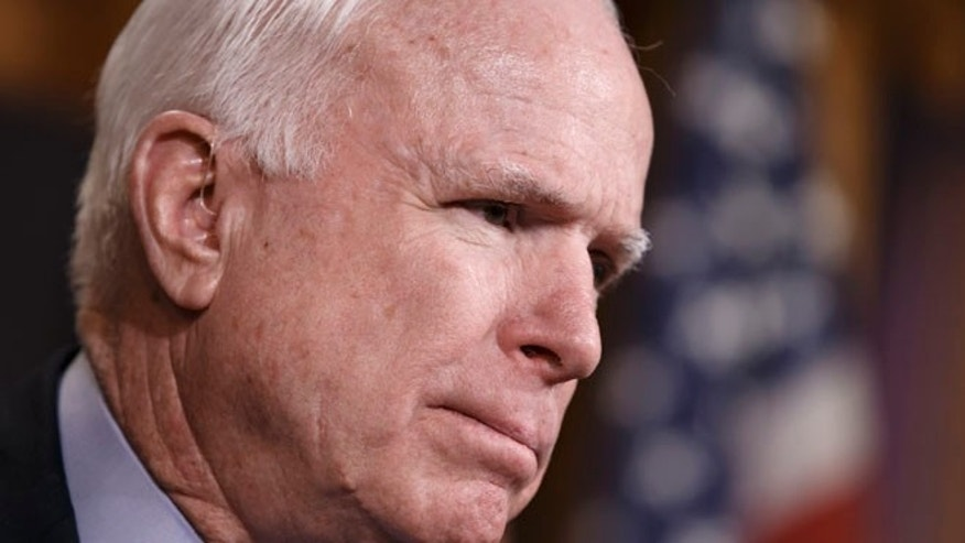 Feb. 5, 2015: Sen. John McCain, R-Ariz., speaks on Capitol Hill in Washington.
