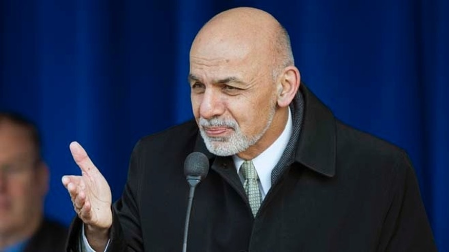 March 23, 2015: Afghan President Ashraf Ghani speaks at the Pentagon.