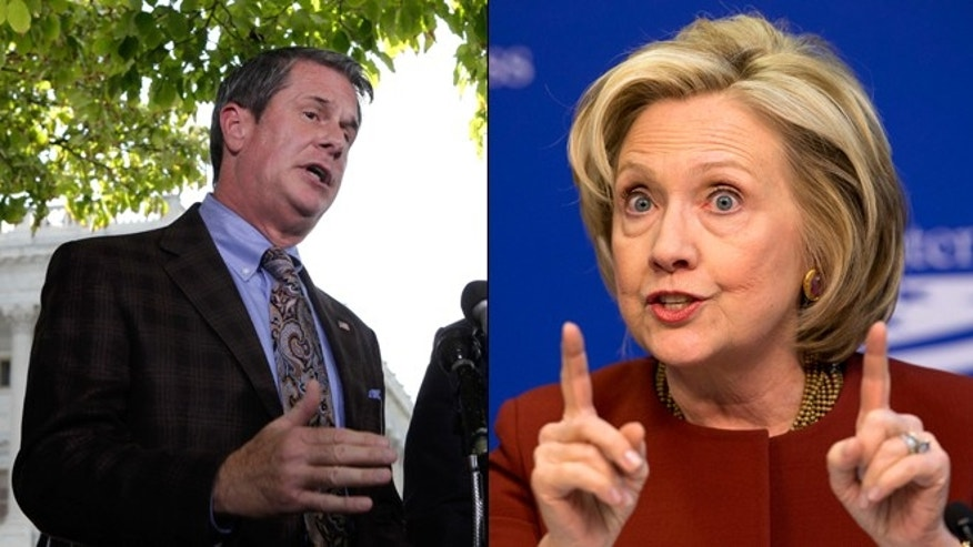 Shown here are Sen. David Vitter, R-La., left, and former Secretary of State Hillary Clinton.