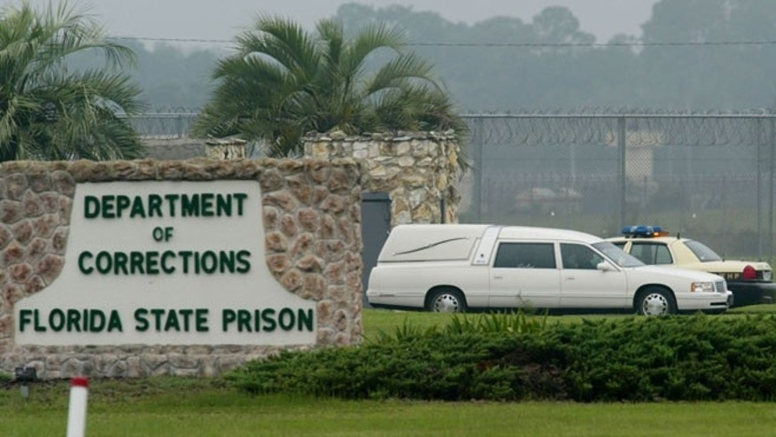 The exterior of Florida State Prison near Starke, Florida.
