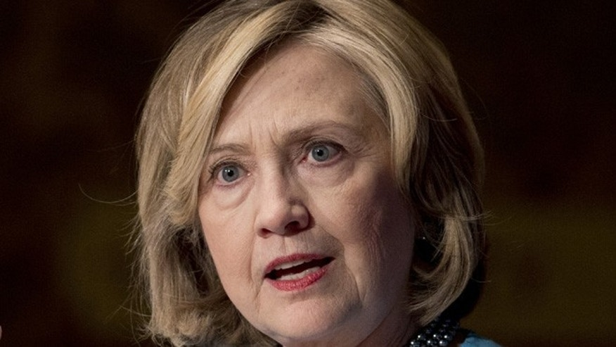 Dec. 3, 2014: Former Secretary of State Hillary Rodham Clinton speaks in Gaston Hall at Georgetown University, in Washington.