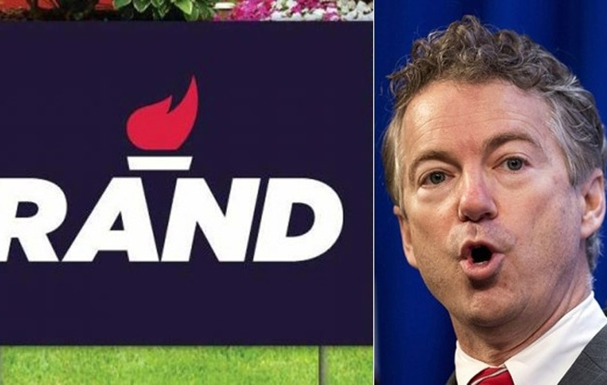 Critics say Kentucky Sen. Rand Paul's simple red flame logo is too bland.