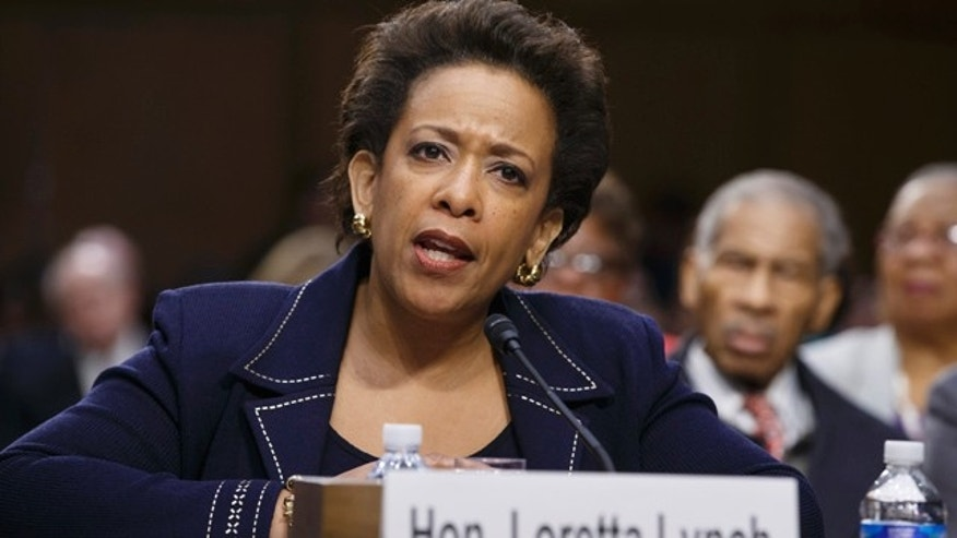 FILE - In this Jan. 28, 2015 file photo, Attorney General nominee Loretta Lynch testifies on Capitol Hill in Washington. (AP Photo/J. Scott Applewhite, File)