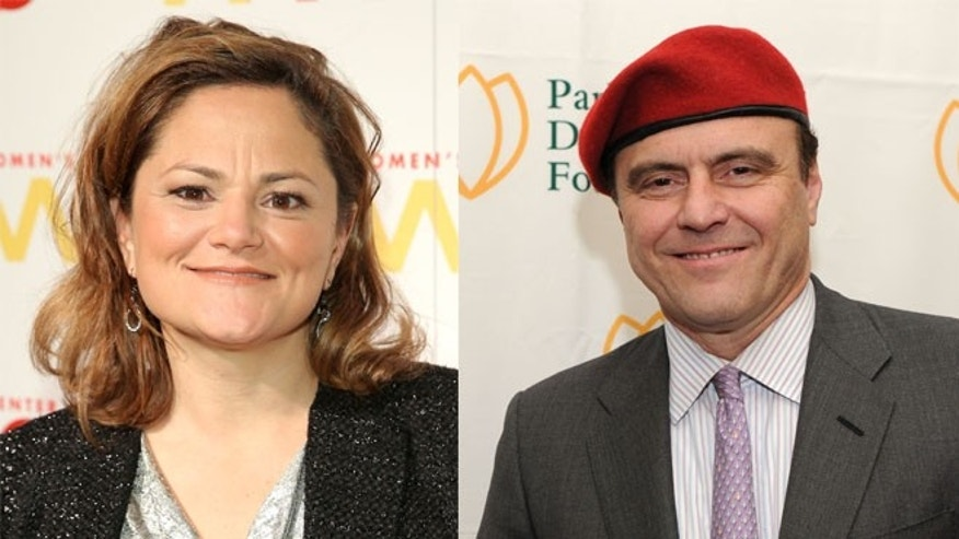 New York City Council Speaker Melissa Mark-Viverito (left) and Guardian Angels leader Curtis Sliwa (right) (Getty)