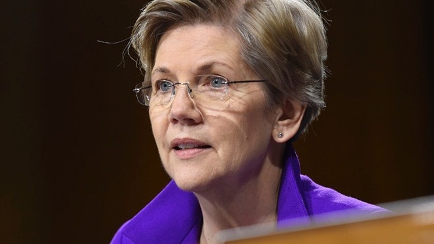 Feb. 24, 2015: Sen. Elizabeth Warren, D-Mass. is seen on Capitol Hill in Washington. (AP)