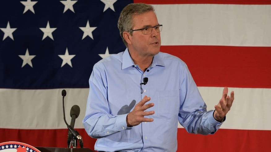 Jeb Bush in the Nation Republican Leadership Summit in New Hampshire, on April 17, 2015.