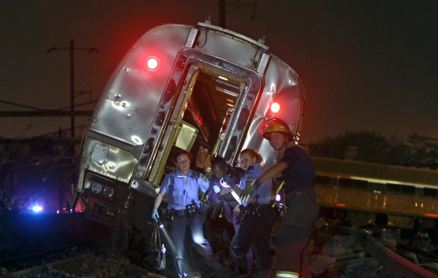 An Amtrak train headed to New York City derailed and crashed in Philadelphia.