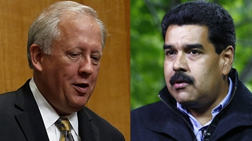 Left: Thomas Shannon Jr.,counselor of the State Department, prior to a hearing of the Senate Foreign Relations Committee, July 17, 2014 in Washington, D.C. (Photo by Win McNamee/Getty Images) Right: Venezuelan President Nicolas Maduro on September 23, 2013 in Beijing, China. (Photo by ChinaFotoPress/Getty Images)