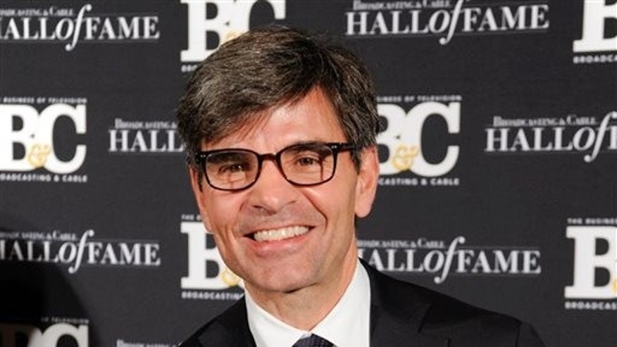 FILE - This Oct. 20, 2014, photo shows George Stephanopoulos at the 24th Annual Broadcasting and Cable Hall of Fame Awards in New York.  (Photo by Evan Agostini/Invision/AP, File)