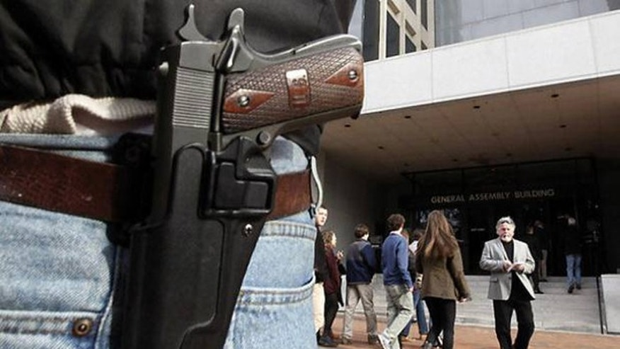 If signed into law, the measure would take effect Jan. 1, 2016, and make Texas the 45th state to allow open carrying of handguns. (AP)