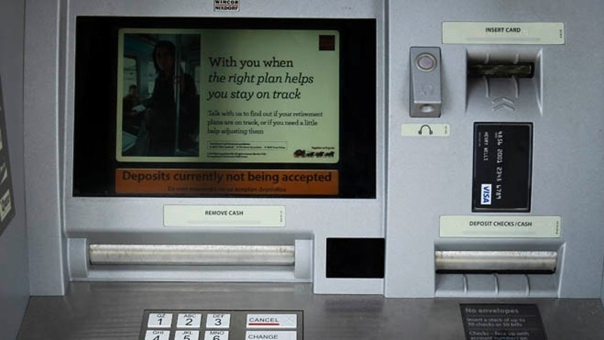 April 19, 2011: A Wells Fargo ATM bank machine is shown here in Solana Beach, California.
