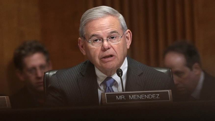 Sen. Menendez during a markup meeting of the Senate Foreign Relations Committee on April 14, 2015.