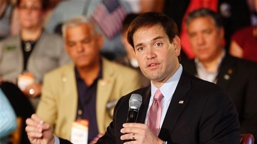 Republican presidential candidate, Sen. Marco Rubio, R-Fla. speaks during a town hall meeting, Thursday, June 25, 2015, in Exeter, N.H.
