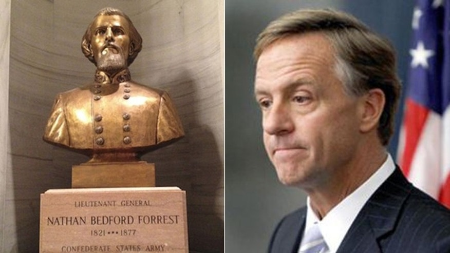"The Tennessee governor had no choice but to proclaim Monday ""Nathan Bedford Forrest Day,"" according to his staff. (AP)"